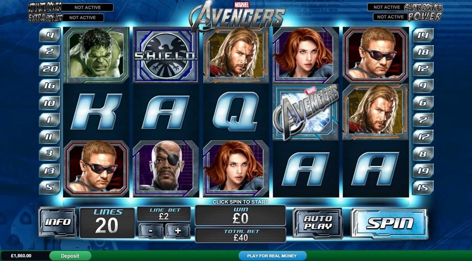 Увлекательный игровой автомат The Avengers - слот Мстители
